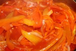 Лечо из перца и помидор