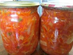 лечо с помидорами, морковью и перцем