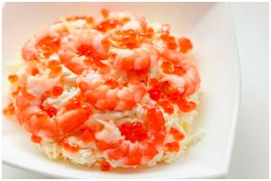 Салат «Красное море» с креветками