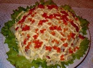Салат «Красное море» с красной рыбой
