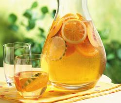 домашний лимонад из апельсинов и лимонов
