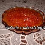 Аджика с яблоками - и обычный салат,  и  острый соус