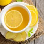 Имбирный чай - рецепт с лимоном