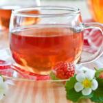 Чай из листьев земляники - обладает массой лечебных свойств