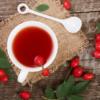 Чай из листьев шиповника